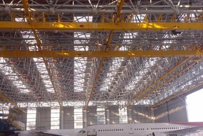 The hangar of XIAMEN AIR