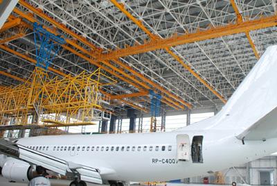 北京首都机场B747机库